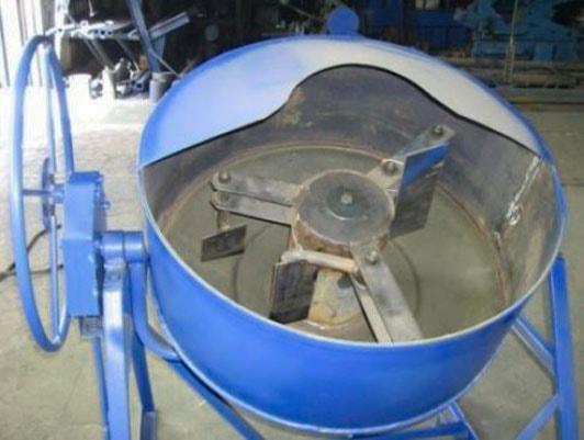 производство шлакоблоков бетономешалка