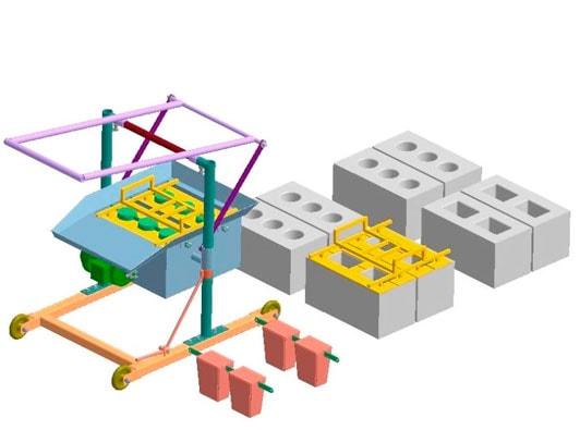 производство шлакоблоков станок схема