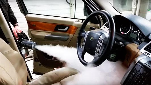 обработка автомобилей сухим туманом
